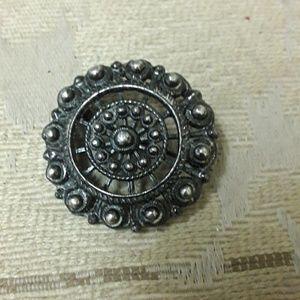 vintage silver broach